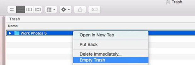 undo Move to trash and recover lost Mac files