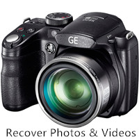 recover lost photos and videos from GE digital camera