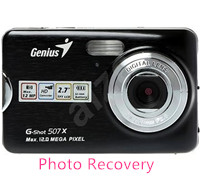 Genius digital camera photo recovery