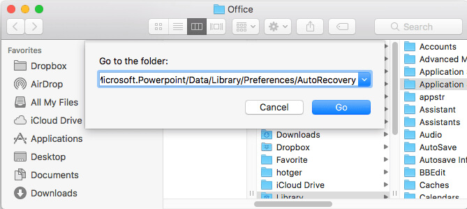 recover deleted or unsaved PowerPoint on Mac