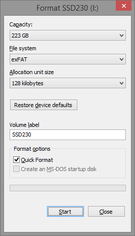 how to format inaccessible hard drive partition
