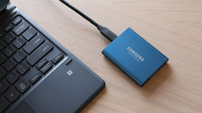 wipe Samsung portable SSD T5 before selling it