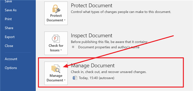 recover deleted or unsaved Word documents